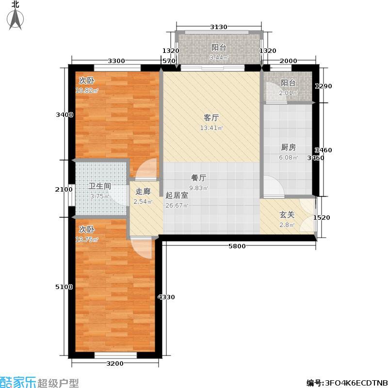 银丰花园银丰花园户型图银丰花园b1两室两厅(13/14张)户型2室2厅1卫