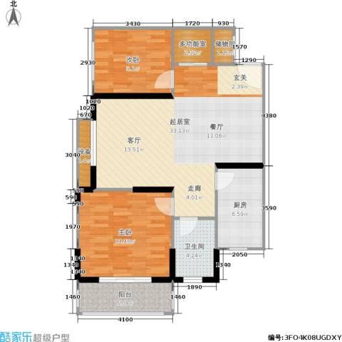 金色阳光花园2室0厅1卫1厨85.00㎡户型图