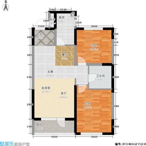 万科城峰汇2室0厅1卫1厨100.00㎡户型图