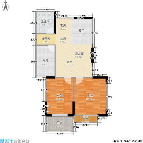金色阳光花园2室0厅1卫1厨81.00㎡户型图