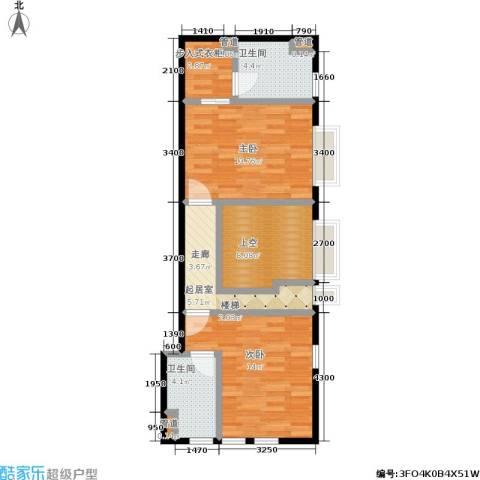 星河1852室0厅2卫0厨88.00㎡户型图