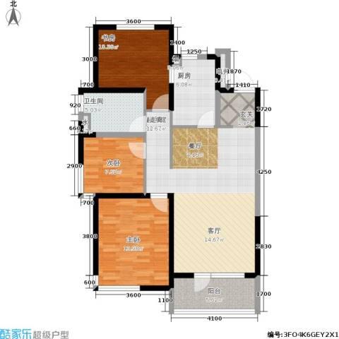 万科城峰汇3室0厅1卫1厨115.00㎡户型图