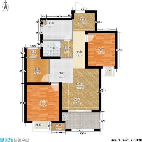 旭辉上河郡2室0厅1卫1厨86.00㎡户型图