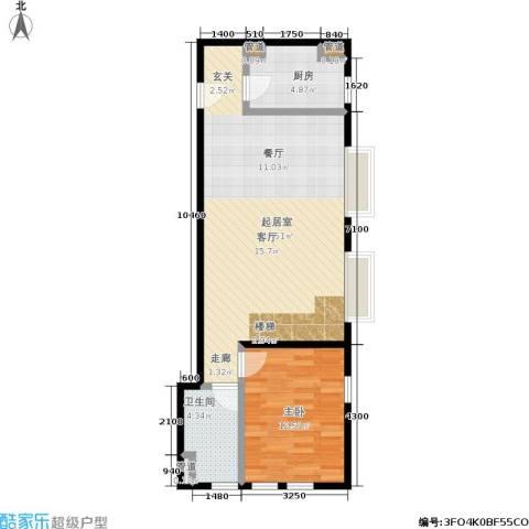 星河1851室0厅1卫1厨88.00㎡户型图