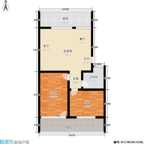 黄山新都2室0厅1卫1厨99.00㎡户型图