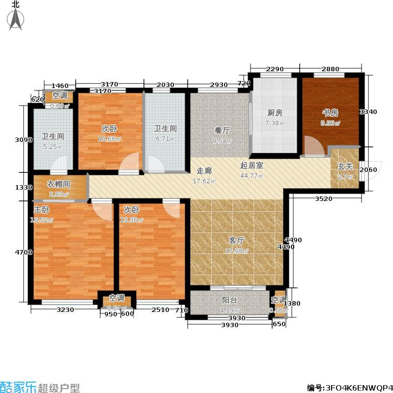 大尧・风华盛景143.00㎡D户型 四室两厅两卫户型4室2厅2卫