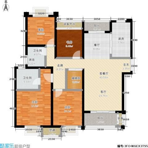 新港天之运4室1厅2卫1厨141.00㎡户型图