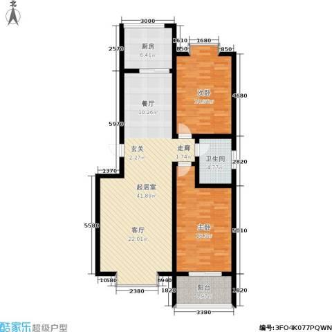 黄山新都2室0厅1卫1厨102.00㎡户型图