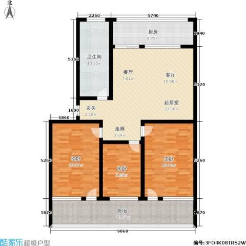 黄山新都3室0厅1卫1厨126.00㎡户型图