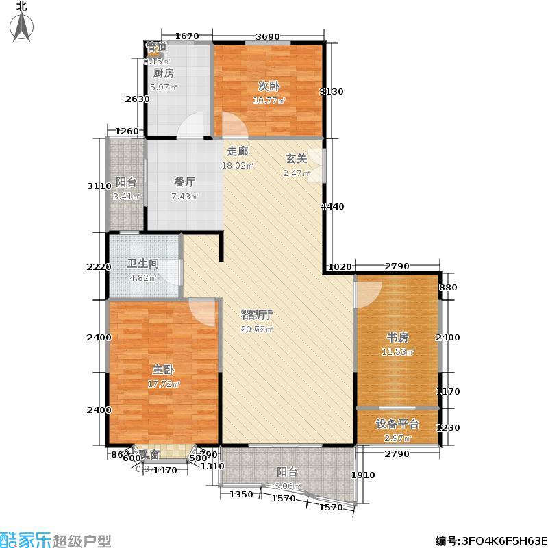 景怡佳苑120.00㎡房型: 三房; 面积段: 120 -130 平方米;户型