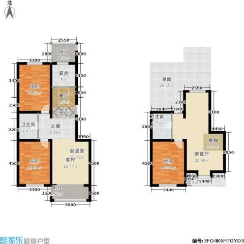 羽丰西江春晓3室0厅2卫1厨155.00㎡户型图