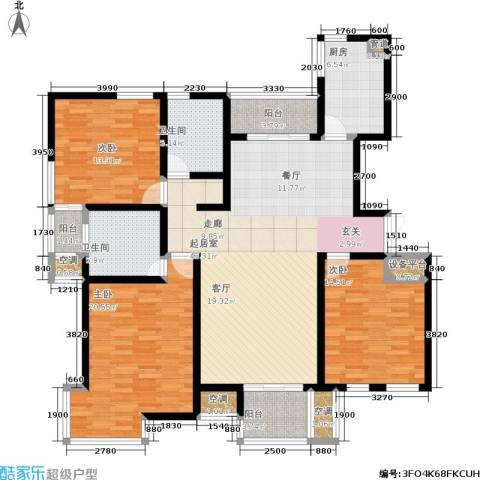 新港天都花园3室0厅2卫1厨142.00㎡户型图