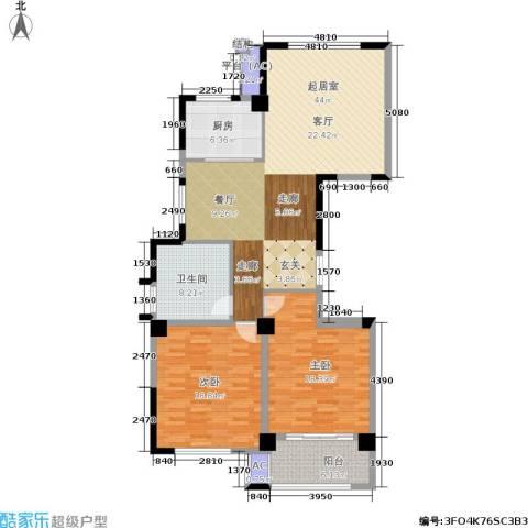 万家富公寓2室0厅1卫1厨147.00㎡户型图