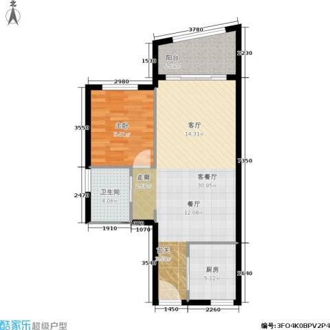 汇展香格里拉1室1厅1卫1厨78.00㎡户型图