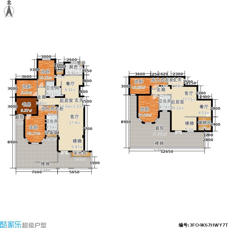 中国中铁・诺德名城248.00㎡一层中户户型3室2厅2卫