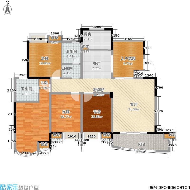 世纪金源御府151.65㎡世纪金源御府户型图5幢1/2单元01户型4室2厅2卫套内面积121.39平米(28/50张)户型4室2厅2卫