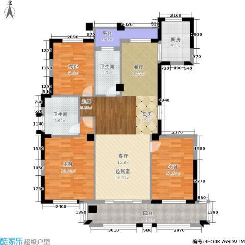 万家富公寓3室0厅2卫1厨142.00㎡户型图