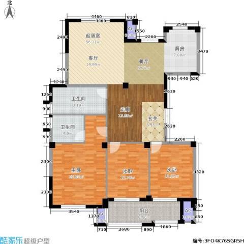 万家富公寓3室0厅2卫0厨179.00㎡户型图