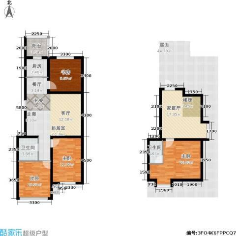 羽丰西江春晓4室0厅2卫1厨128.00㎡户型图