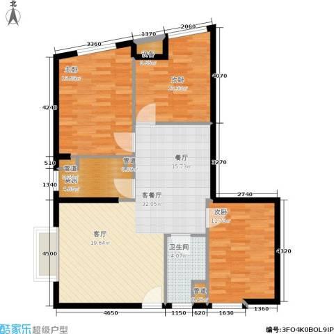 汇展香格里拉3室1厅1卫1厨109.00㎡户型图