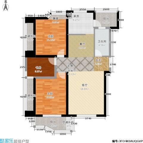 天元公寓3室1厅1卫0厨123.00㎡户型图