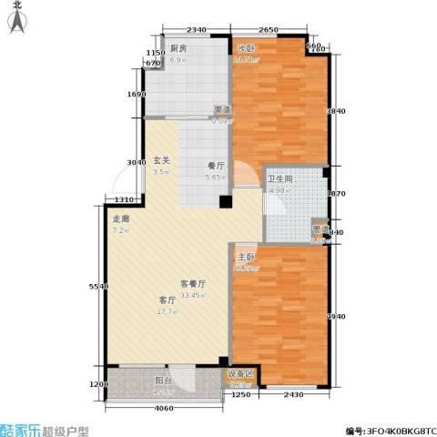 万科・深蓝2室1厅1卫1厨93.00㎡户型图