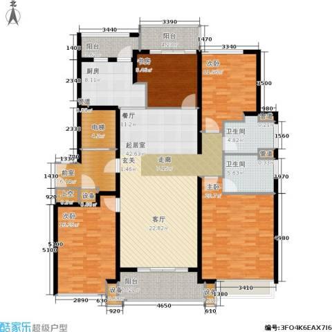 九龙仓雅戈尔铂翠湾4室0厅2卫1厨210.00㎡户型图