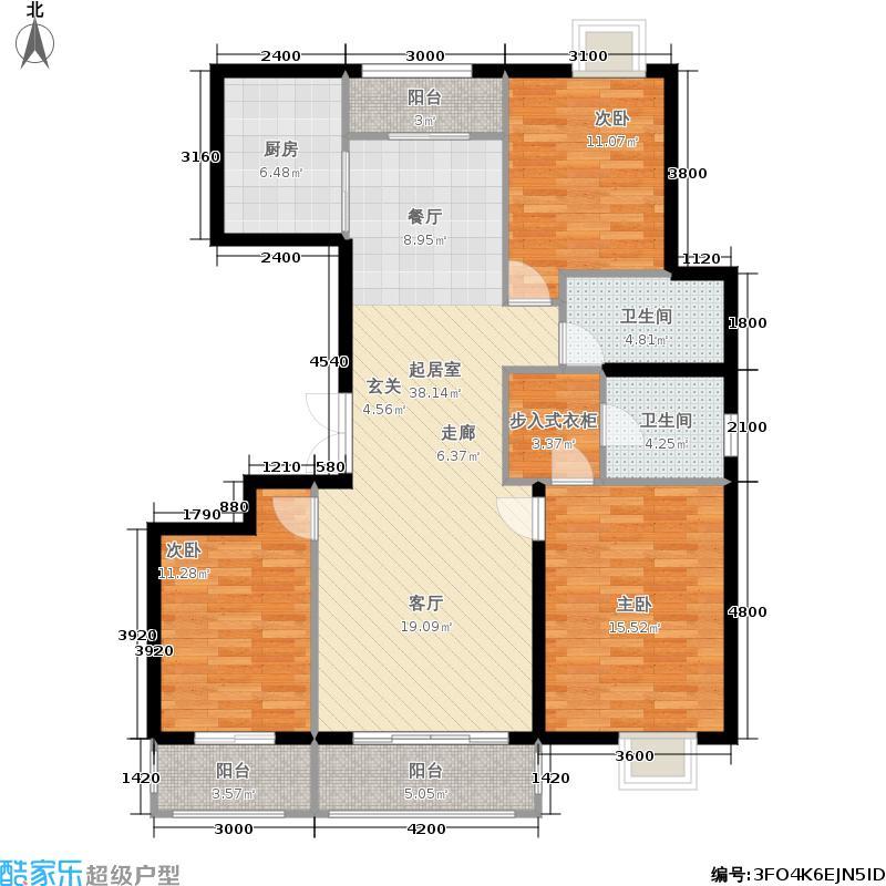 银丰花园150.00㎡银丰花园户型图三室两厅两卫(10/14张)户型3室2厅2卫