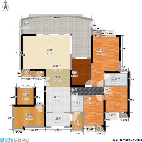 顺联新城花园4室1厅2卫1厨165.00㎡户型图