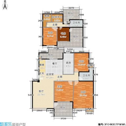 鼎泰花园5室0厅2卫1厨190.00㎡户型图