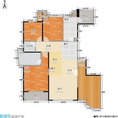 雅景湾3室1厅2卫1厨149.00㎡户型图