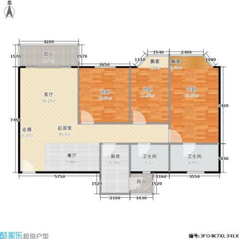 华润广场3室0厅2卫1厨152.00㎡户型图