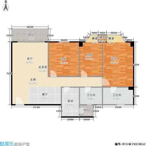 华润广场3室0厅2卫1厨146.00㎡户型图