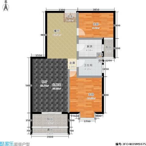 丽水莲花2室0厅1卫1厨103.00㎡户型图