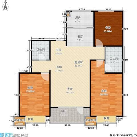 惠盛苑3室0厅2卫1厨118.00㎡户型图