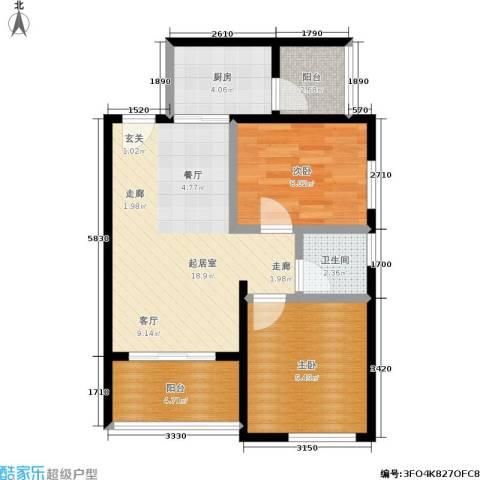 天诚康桥2室0厅1卫1厨72.00㎡户型图