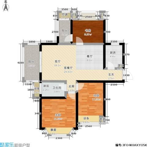 盛世名门3室1厅1卫1厨98.93㎡户型图
