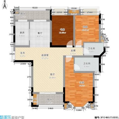 龙湖花千树3室0厅2卫1厨148.00㎡户型图