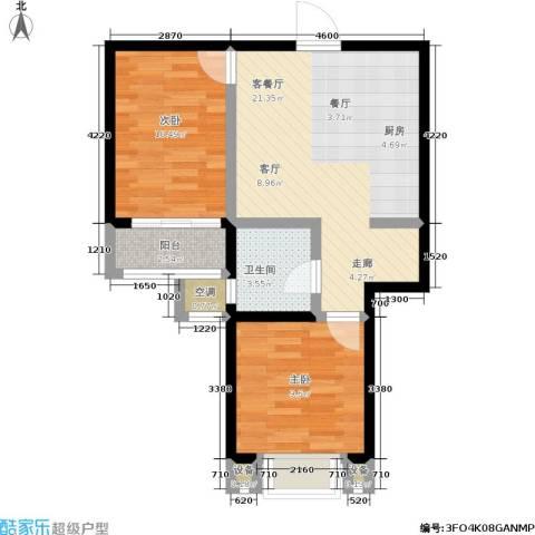 盛世名门2室1厅1卫0厨57.54㎡户型图