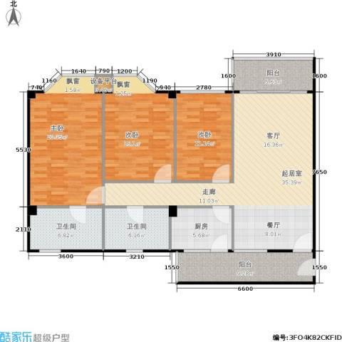 华润广场3室0厅2卫1厨156.00㎡户型图