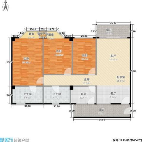 华润广场3室0厅2卫1厨154.00㎡户型图