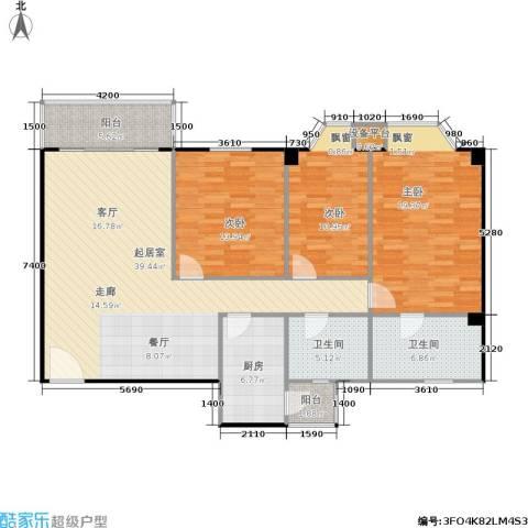 华润广场3室0厅2卫1厨149.00㎡户型图