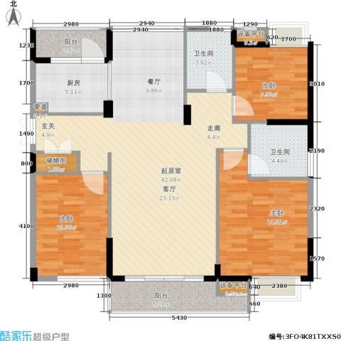 茂华国际湘3室0厅2卫1厨138.00㎡户型图