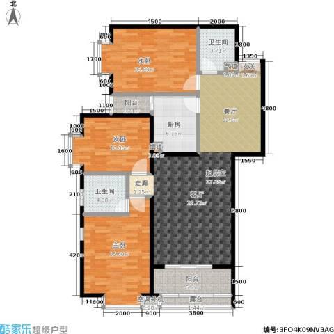 丽水莲花3室0厅2卫1厨134.00㎡户型图