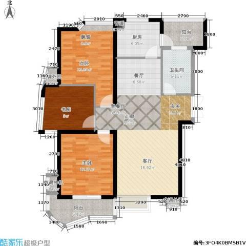 天元公寓3室1厅1卫1厨123.00㎡户型图