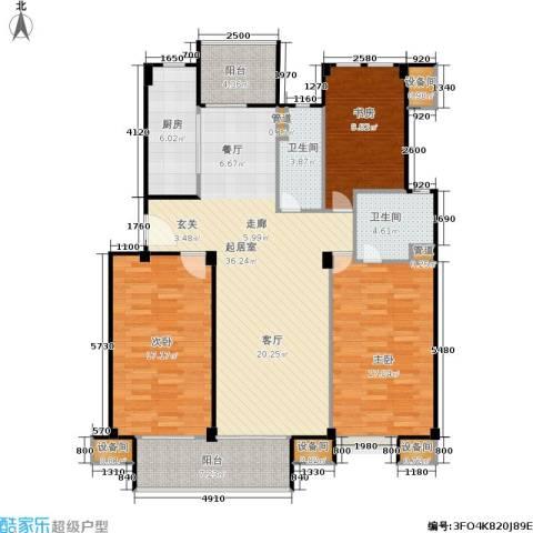 鼎泰花园3室0厅2卫1厨120.00㎡户型图