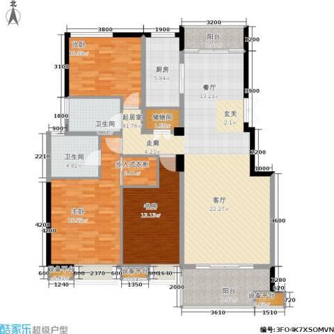 茂华国际湘3室0厅2卫1厨159.00㎡户型图