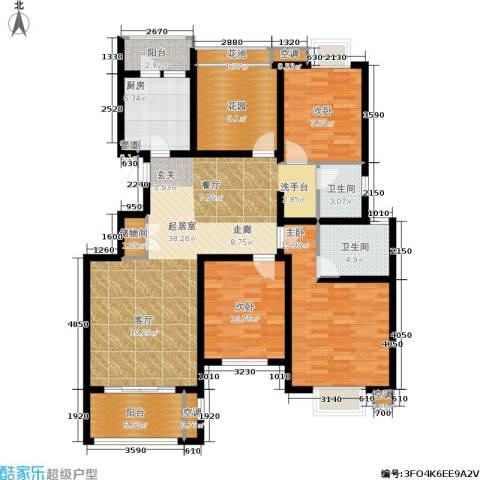 旭辉上河郡3室0厅2卫1厨132.00㎡户型图