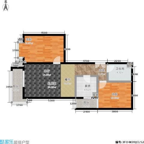 丽水莲花2室0厅1卫1厨92.00㎡户型图
