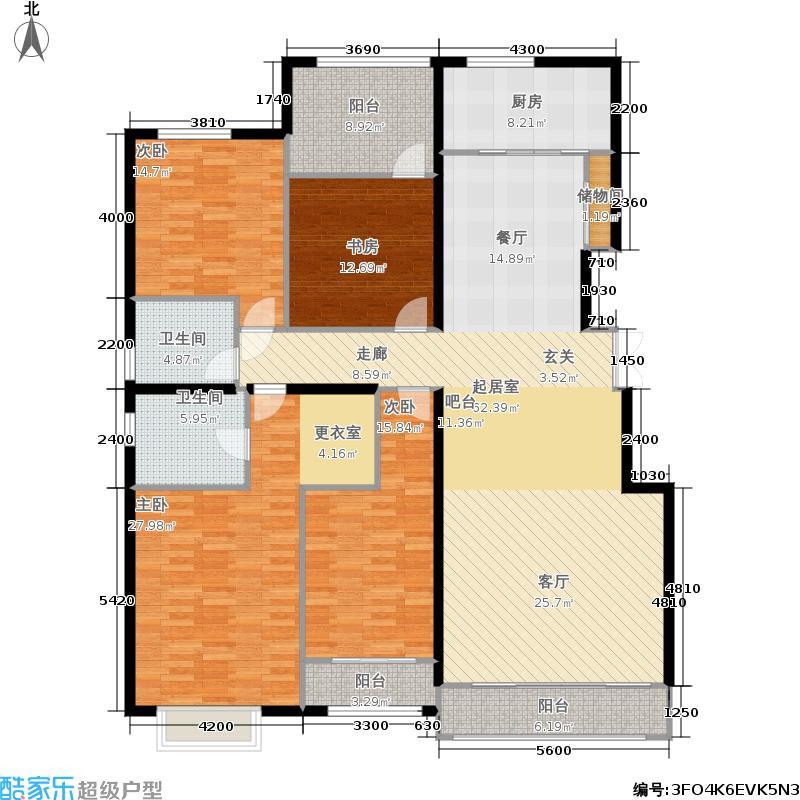 银丰花园银丰花园户型图4室2厅(7/9张)户型4室2厅2卫